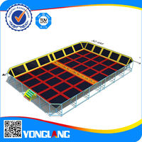 Used square bungee trampoline for sale