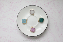 Jewelry Accessories natural stone pendant gold necklace pendants resin factory wholesale Clover