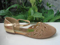 2014 flat latest footwear for girls