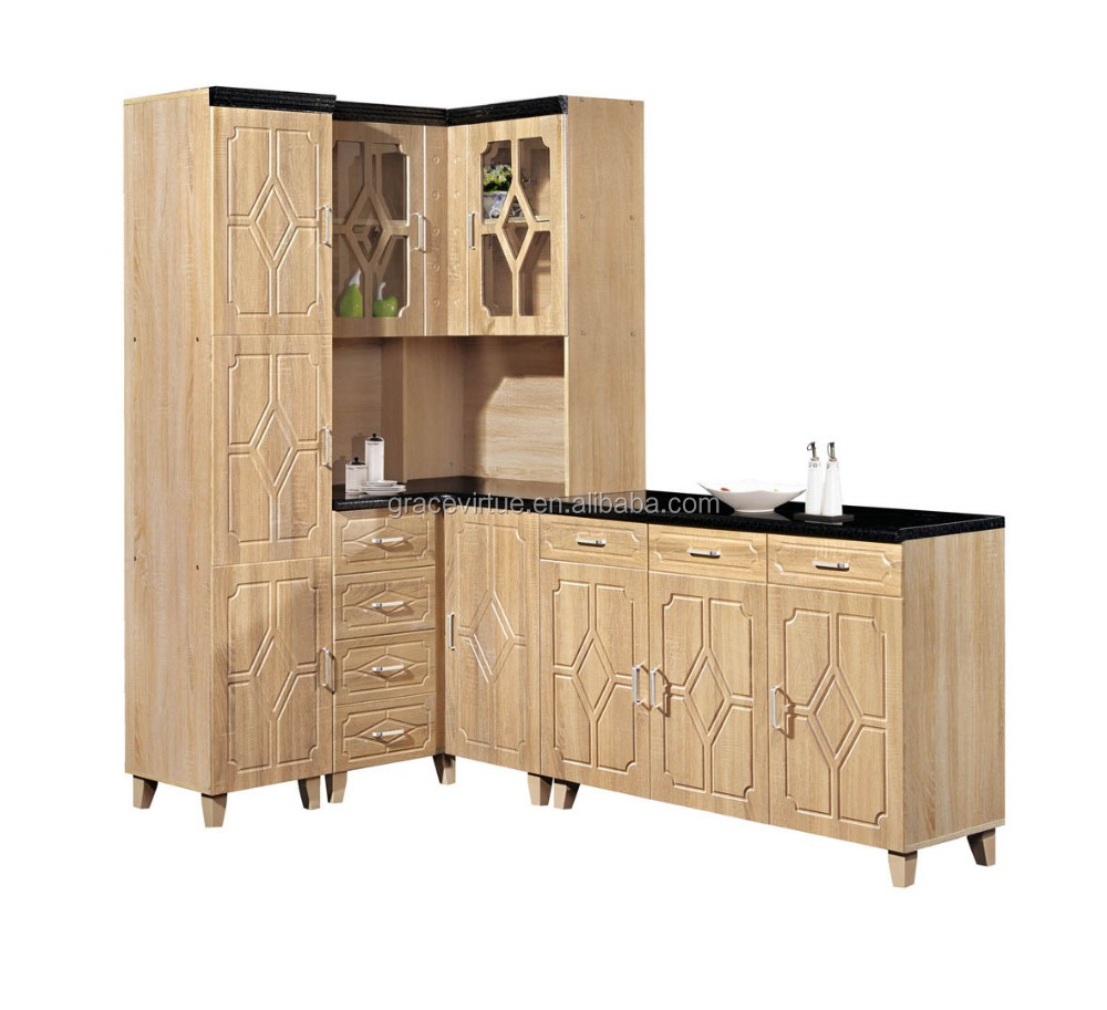 Cheap price mdf kitchen furniture for small kitchen 319 for Small kitchen furniture