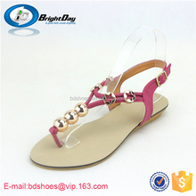 Leisure sandals flat ladies shoes sandals from thailand