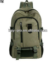 wholesale 2013 newest design fashion cheap canvas backpack with belt decoration