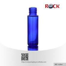 2015 Hot 10ml glass cobalt blue roller vials with cap any color