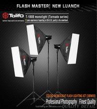 Tolifo Tonardo 360w-540w photographic studio strobe flash light monolight kit with bowens mounting for amateur and entry