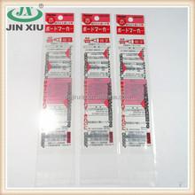 OPP red pen refill packing bag for stationery