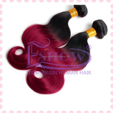 New Arrival Cheap 5a Grade 100% Human Hair Ombre Brazilian Virgin Hair,Black/red/yellow Color Hair Extension