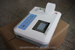 CE and FDA Marked Digital Portable 3 Channel 12 Leads ECG Machine