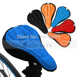 Min order $15 (mix order) Free Shipping 4 Color New Cycling Bike Saddle Comfortable Cushion Soft Pad Bicycle Seat Cover LX0167
