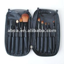 10pcs popular colorful makeup brush set 2014 synthetic hair goat hair wool pony hair