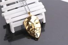 MYLOVE V for Vendetta gold mask necklace MJ-282