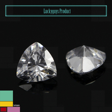 Wholesale price 4*4mm fat triangle trillion cut synthetic cubic zirconia for jewelry