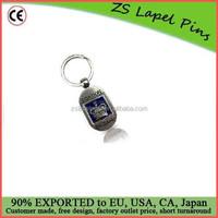 Quality Free Artwork Custom Silver Metal London Flipping Crown Souvenir Key Ring Key Chain