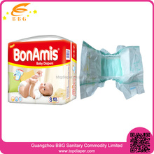 Factory in china plastic backed baby diapers with leak prevention