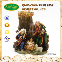 Hot sale hand made religious holy family resin crafts
