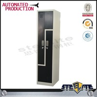 L shape locker/2 door clothing steel locker/wardrobe/new design locker