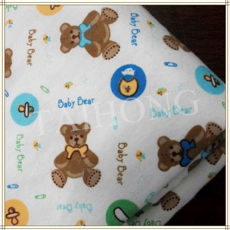 Cotton baby prints wholesale flannel fabric for babywear for Cheap baby fabric