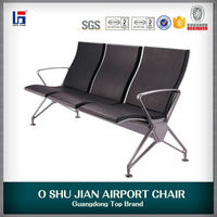 3 seater aluminium alloy airport waiting chair with cushion for public area SJ9090