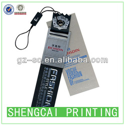 high quality customized black cardboard paper clothing tag