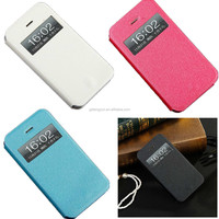 Slim Thin View Window Shell PU Leather Case Flip Cover Shockproof Holster For Apple iPhone 5/5S