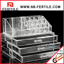 WFZ 423598 Acrylic Makeup Organizer Storage Box Case Cosmetic Jewelry 3 Drawer Cases Holder Makeup Container Boxes