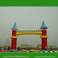 Outdoor advertising decorative inflatable entrance arch design for amusement park