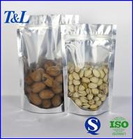 Food grade custom printed clear plastic zippered storage bag at wholesale low price