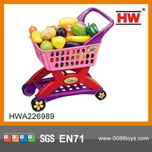 2015 good selling plastic kids shopping cart toys