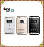 Ultra slim Arabic keyboard Aiek M7 card phone mini student phone Aeku M7 Low Radiation Ultra-thin Pocket Mobile Cell Phone