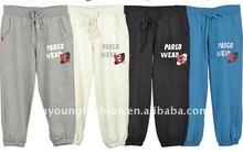 2012 new design of pure cotton elastic waist lady short uniform pants
