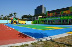 PP & PVC interlocking sports flooring for kindergarten