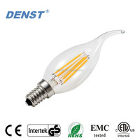 3.5 Watt E12 LED Filament Candelabra Light Bulb,(35W Incandescent Replacement) Warm White 2700K Chandelier Flame Tip Bulb