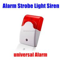 GSM universal Security Systems Alarm Strobe Light Siren Red Wired alarm siren Sound the siren Sound and light alarm