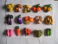 resin 3d souvenir fruit and vegetable fridge magnets