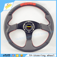 Car Modification Personality MOMO Steering Wheel Car Interior 14 Inch PVC Material Black Outer Ring Red Yellow MOMO