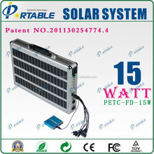 adjustable solar mounting bracket 15W solar energy system for outdoors