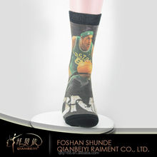 Custom photo printing digital stars printed men's basketball socks