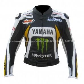 Yamaha Monster energy compite con la chaque Cuerojaqueta de corrida de moto jaqueta de couro auto raça chaqueta de motociclista