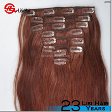 120g 160g 220g full head clip in hair full cuticle trade assurance clip in pony tail