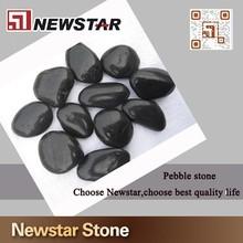 3-5cm polished black river pebble
