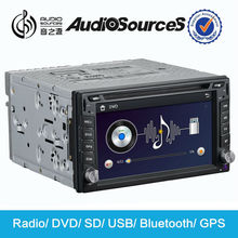 double din digital touch screen car stereo for Universal with GPS navigation bluetooth steering wheel control