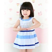 80197 wholesale children's boutique clothing children girl dress sleeveless dress flower girl dress