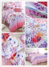 65gsm 230cm 100% polyester pigment custom printed bedding fabric wholesale from Changxing factory