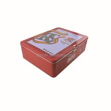 Rectangular metal tin box/olive oil tin box