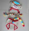 Handmade newborn baby daiper covers crochet grey monkey