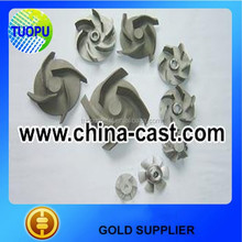 China sand pump impeller,water pump impeller,pumps screw centrifugal impeller