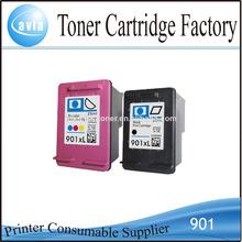 cartucho de tinta compatível 901 para hp impressora jato de tinta