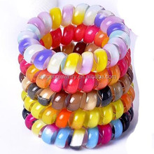 Plastic Stretchy Elastic Coiled Phone Wire Hair Bands
