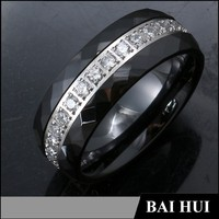 2015 Mens Fashion Engagement RIng With Diamonds/Designs Ceramic Jewelry Engagement Ring
