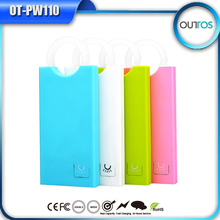 5000mah polymer rubber power bank handle design with dual USB