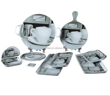 microwave safe melamine dinner set including melamine cutting board tray and coaster